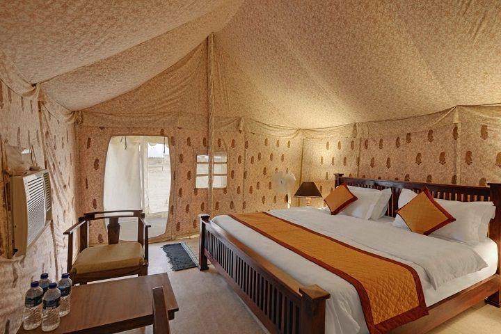 desert camp interior view
